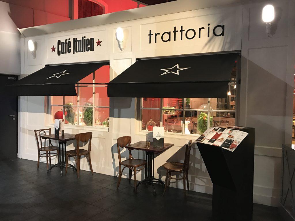Réalisation d'un restaurant italien extérieur et intérieur par Planète bois