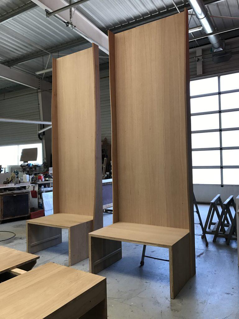 Création d'un meuble pour planche de surf par Planète bois