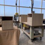 Caisson tiroir en plaquage chêne- Planète bois - fabrication sur mesure