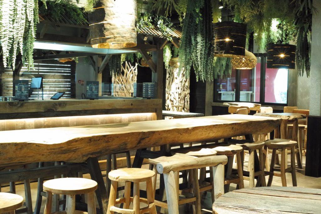 Restaurant Paris Bangkok - Planète bois - fabrication sur mesure